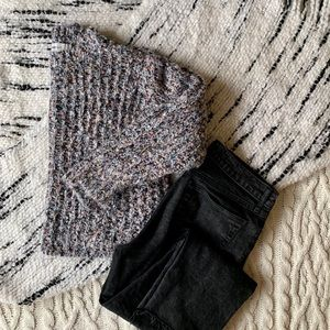 Zara Knit Multi-color Thick Sweater